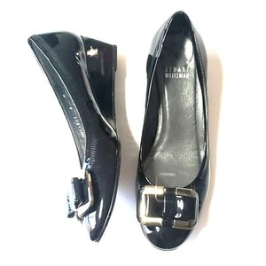 《Stuart Weitzman》Patent Leather Gloss Wedges 6 Bow